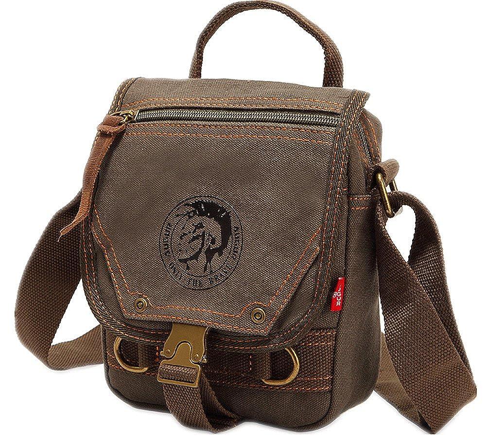 Genda 2Archer Vintage Style Canvas Sling Shoulder Bag Messenger Bag