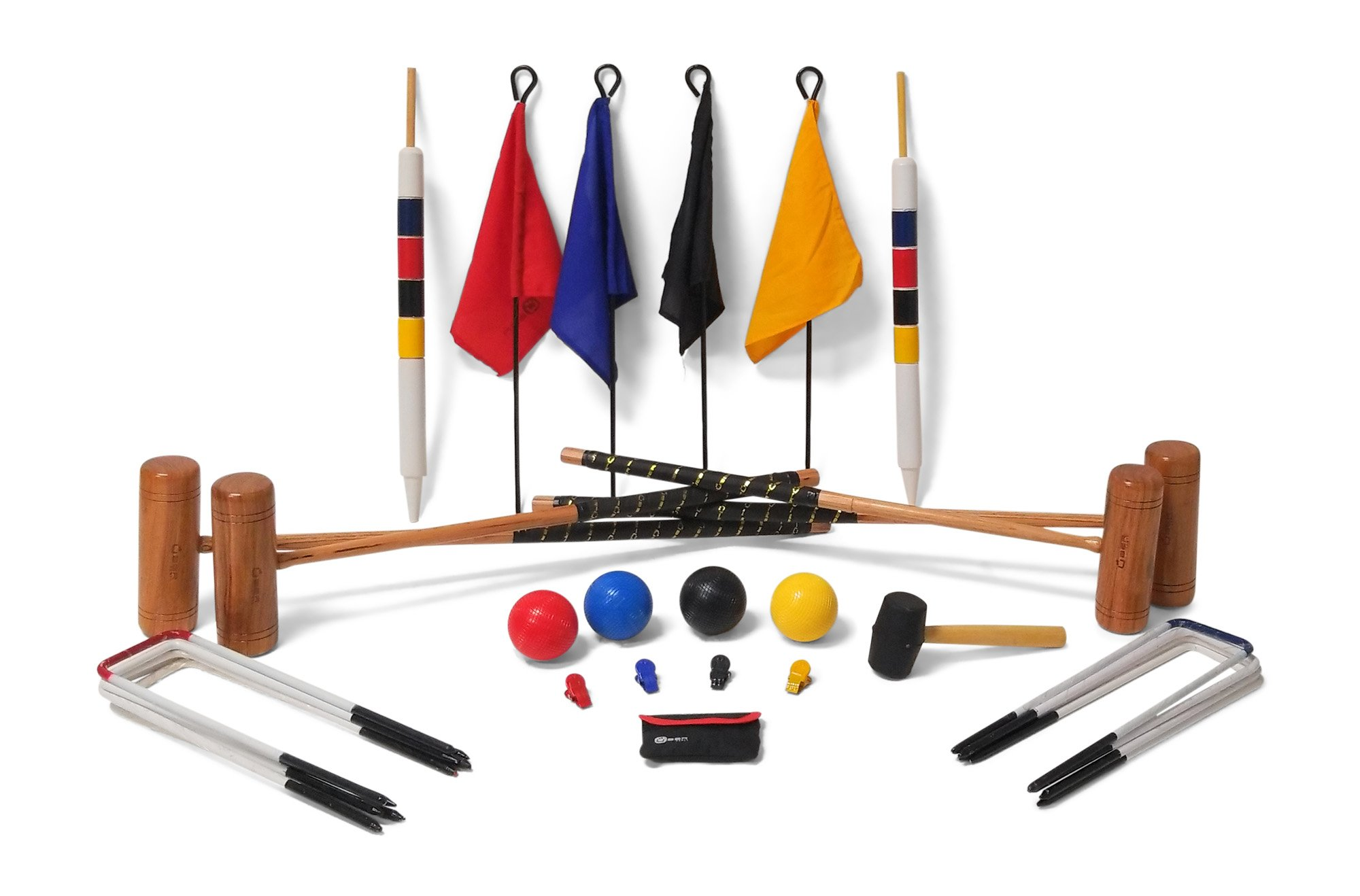 Uber Games 9 Wicket Croquet Set - Professional - 4 Player