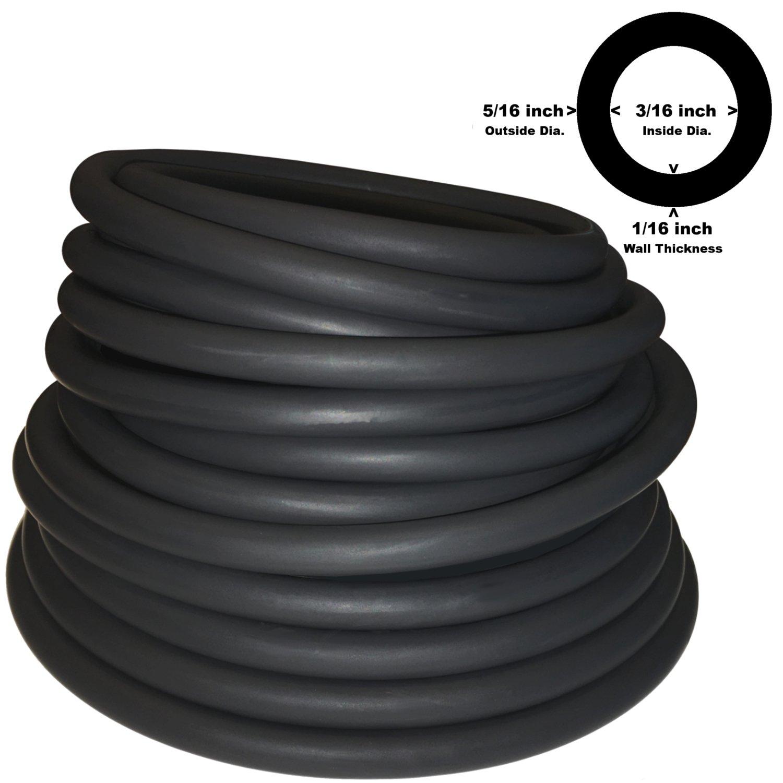 5 / 16in od 3 / 16in IDブラックラテックスゴムチューブ1つの連続Piece (選択長) ( # 604 ) B00710C5LE 40 FT|ブラック ブラック 40 FT