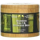 Totally Bamboo Round Salt Box, Cursive Salt Engraved