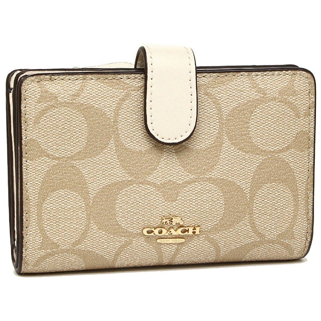 [コーチ] COACH 財布 (二つ折り財布) F54023 シグネチャー 財布 レディース [アウトレット品] [並行輸入品] B07DCLSNXT (6)IMDQC ホワイト (6)IMDQC ホワイト