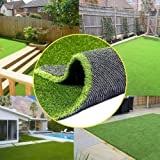 0.8inch Realistic Synthetic Artificial Grass Turf 4FTX7FT(28 Square FT) ,Thick Faux Grass Indoor Outdoor Landscape Lawn…