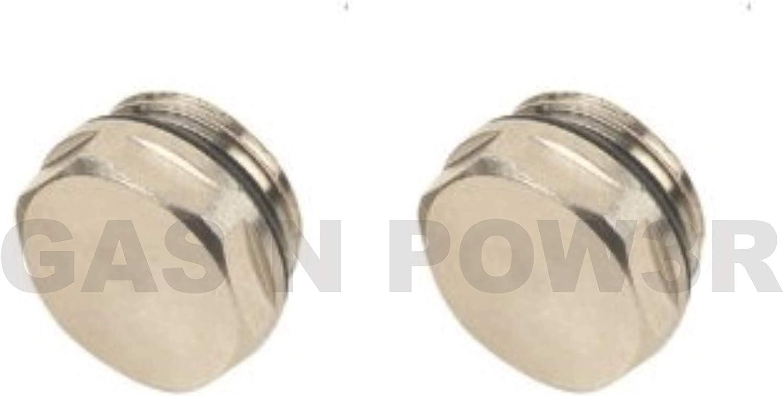 Válvula de purga manual para radiador, 2 unidades, 1,27 cm, BSP de alta calidad