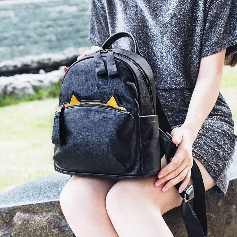 Creative Fashion Multi-Purpose Mini Multi-Purpose College Style Backpack Female Kitty Cute Small Backpack for Women Black