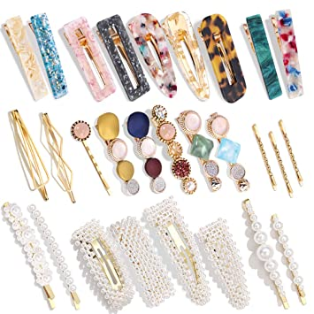 6pcs//Set Hair Clips For Girl Hairpins Hair Accessories For Women Pink Barrettes