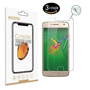 RE3O Protector de Pantalla Compatible con Motorola Moto G5 Plus ...