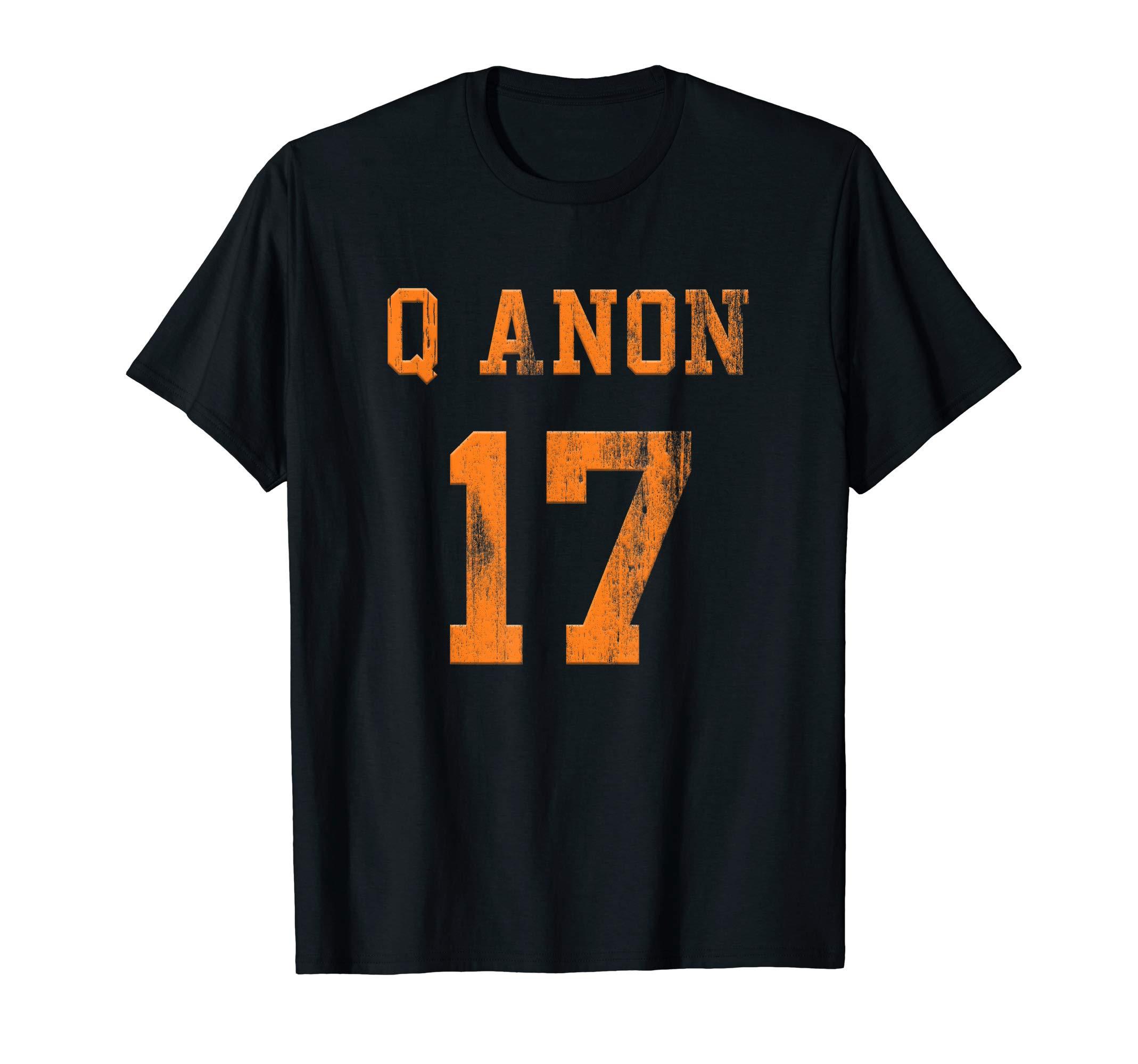 QAnon T Shirt Jersey Style 17 Q Anon Shirt For Q Patriot