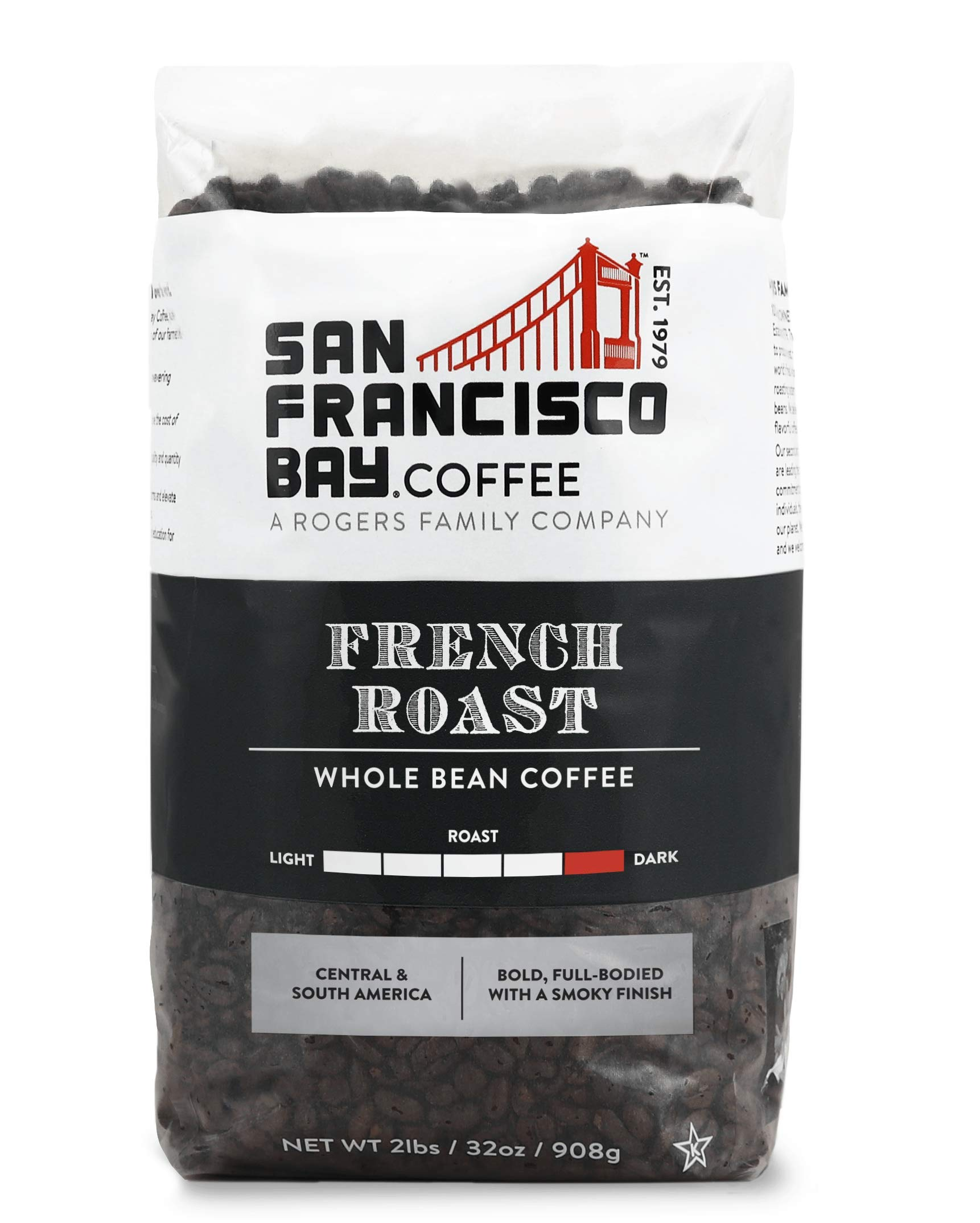 San Francisco Bay Coffee French Roast, Whole Bean, 908g