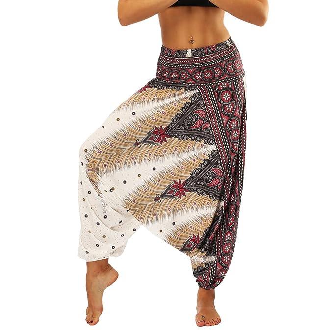 004700045 Lvguang Pantalones De Estilo Hippie De Los Mujer De La Vendimia del Estilo  Nacional Pantalones Holgados Bombachos Ocasionales del Hippie