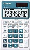 Casio SL-300NC-BU Taschenrechner in Trendfarbe, 8-stelliges Extra Big LC-Display, blau