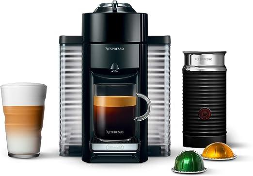Nespresso A+GCC1-US-BK-NE VertuoLine Evoluo Deluxe cafetera y cafetera expreso con aeroccino y espumador de leche, color negro: Amazon.es: Hogar
