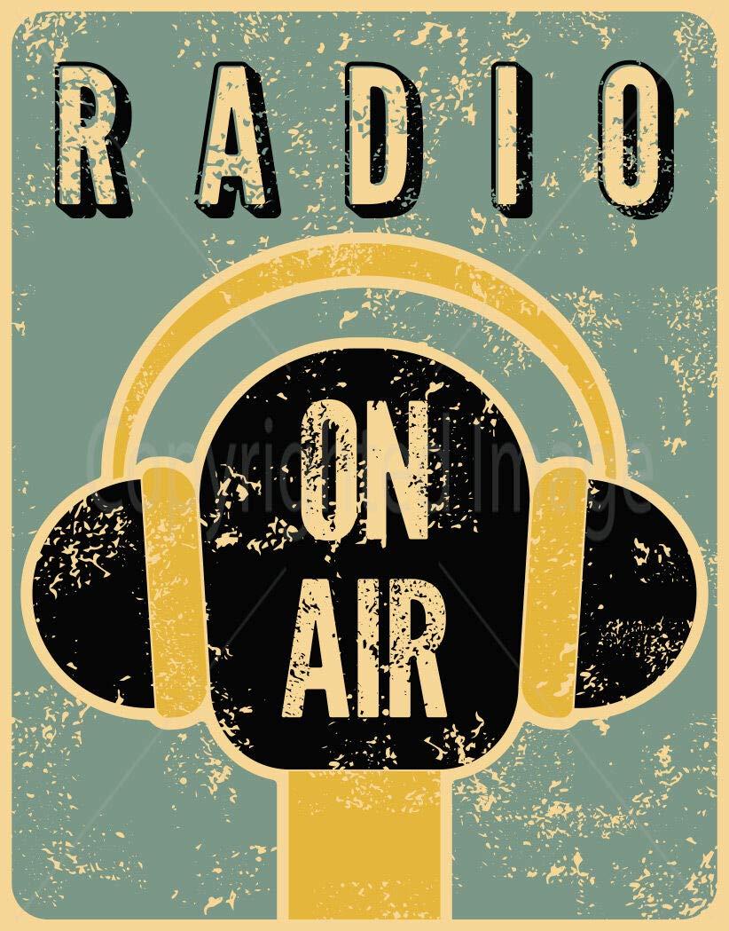 JUNGK Radio ON Air Large -Cartel Chapa Placa Metal Pintura ...