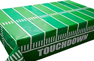 Football Tablecloth 3 Pack for Football Party Games Decoration 54 X 108Inch Touchdown Tablecover Football decorations