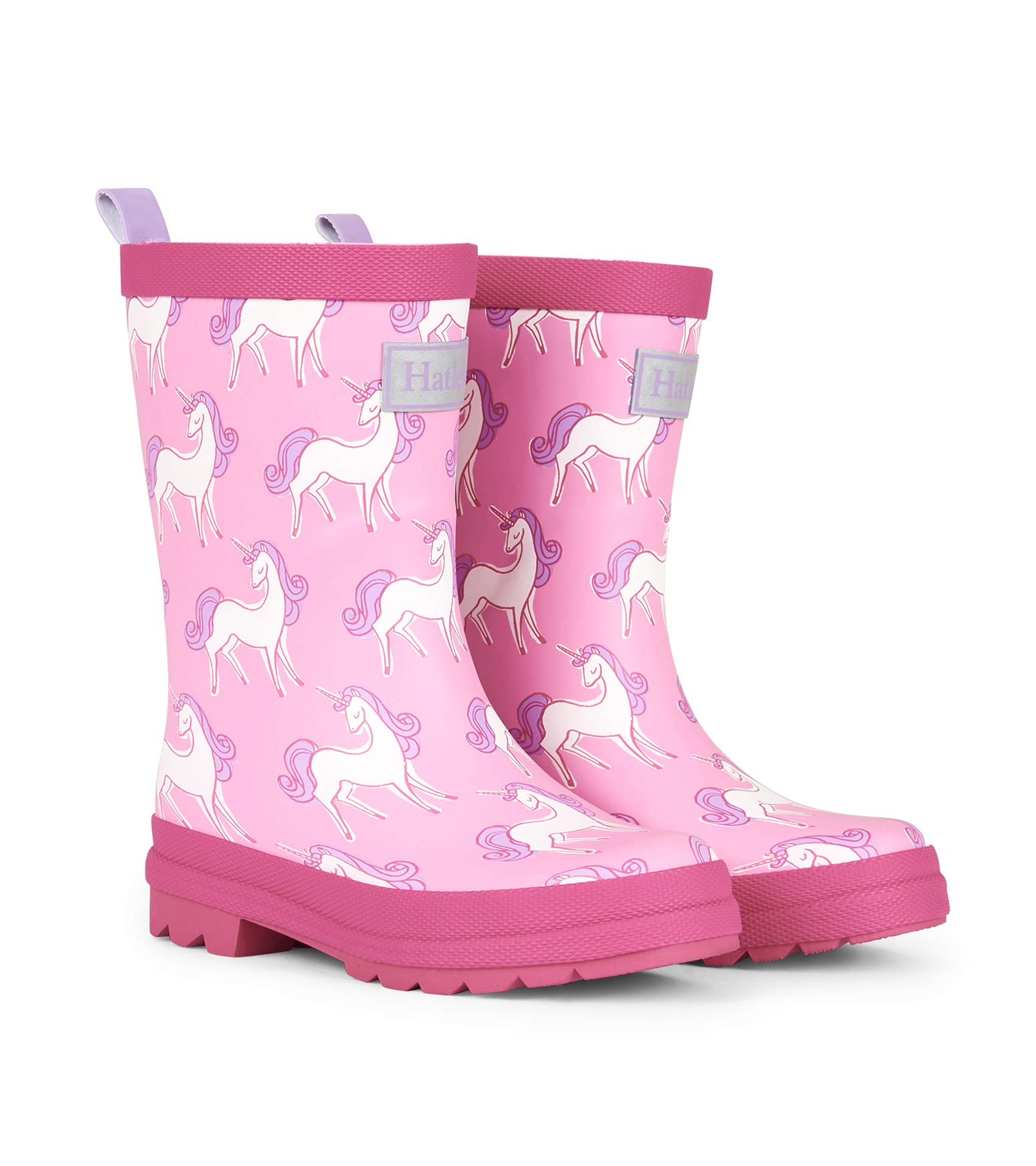 Hatley Girls' Little Printed Rain Boots, Matte Unicorn Doodles, 11 US Child by Hatley
