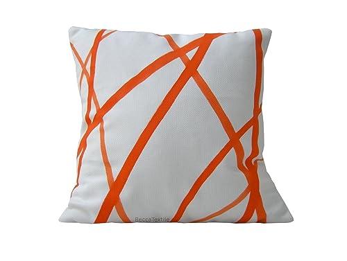 Cojín rayas naranja, nuevas ideas de decoración.BeccaTextile ...