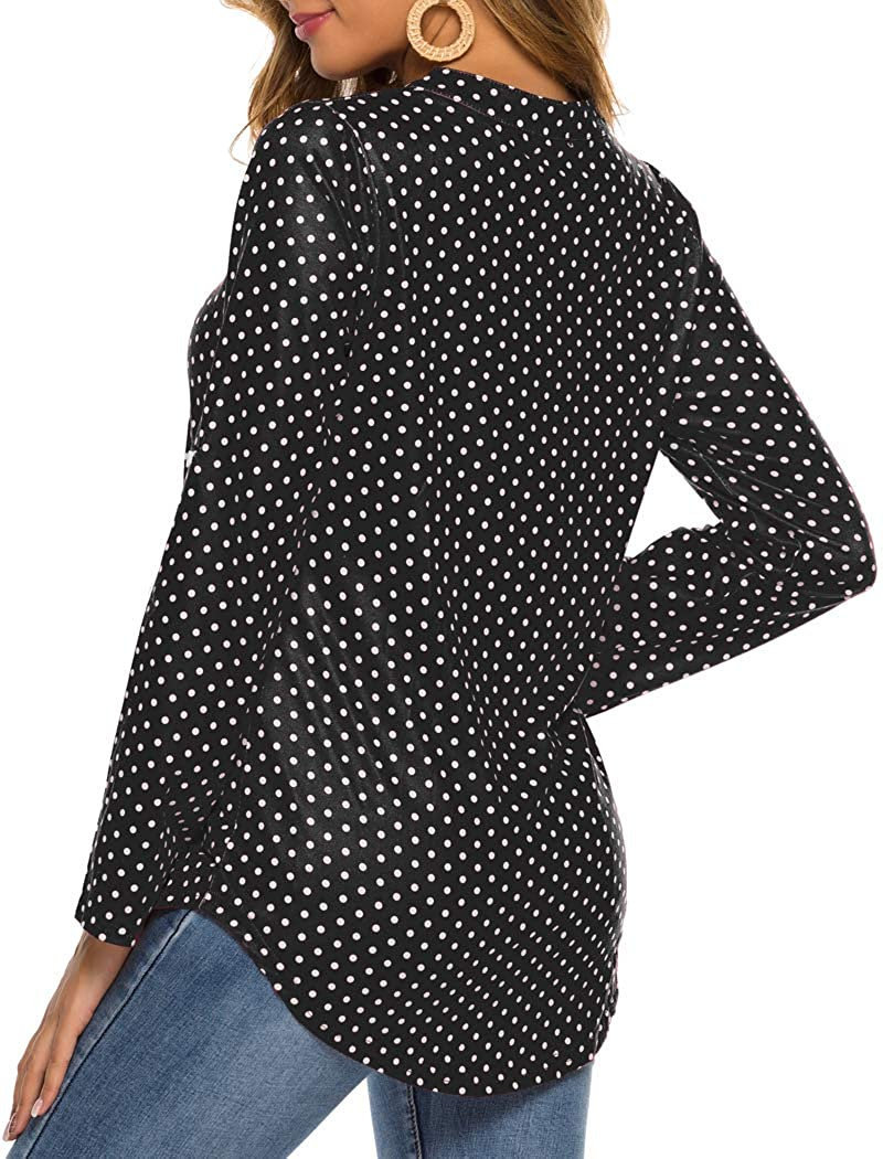 Halife Womens Sleeveless Floral Print V Neck Henley Tank Tops Blouse Shirts Tunic