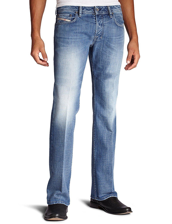 Diesel Men's Zatiny Slim Micro-Bootcut Jean 008AT (26, Blue/Denim)