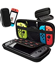 Nintendo Switch Case,HONGYAN Portable Waterproof Travel Carrying Pouch with Protective Hard Shell andLarger Storage Space for 8 Game Cartridges fit Nintendo Switch Console & Accessories