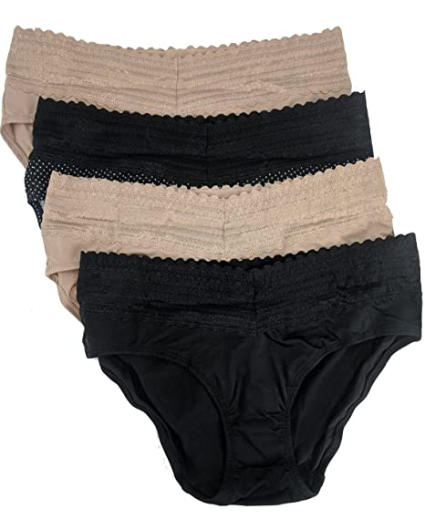 3a940e29e21f Warners Women's No Pinches No Problems Hipster Panty 4-Pack: Amazon.ca:  Clothing & Accessories