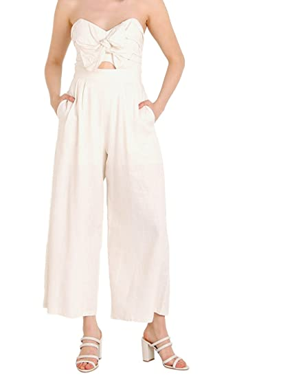 466335896ca Image Unavailable. Image not available for. Color  ASTR The Label Mara  Jumpsuit Natural