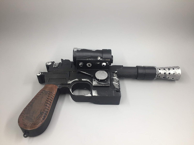 Han Solo Blaster Prop Replica 1:1 DL-44 Star Wars Weathered cosplay prop