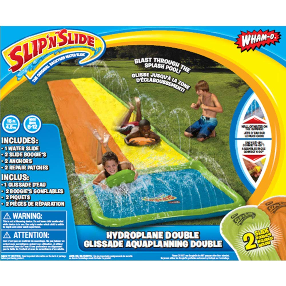 Wham-O Slip N Slide Hydroplane Double with 2 Slide Boogies by Wham-O