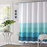 """Bathroom Curtain Fabric Shower Curtain Liner Bathroom Decorative Polyester Waterproof with 12 Hooks Machine Washable - 71""""x71"""