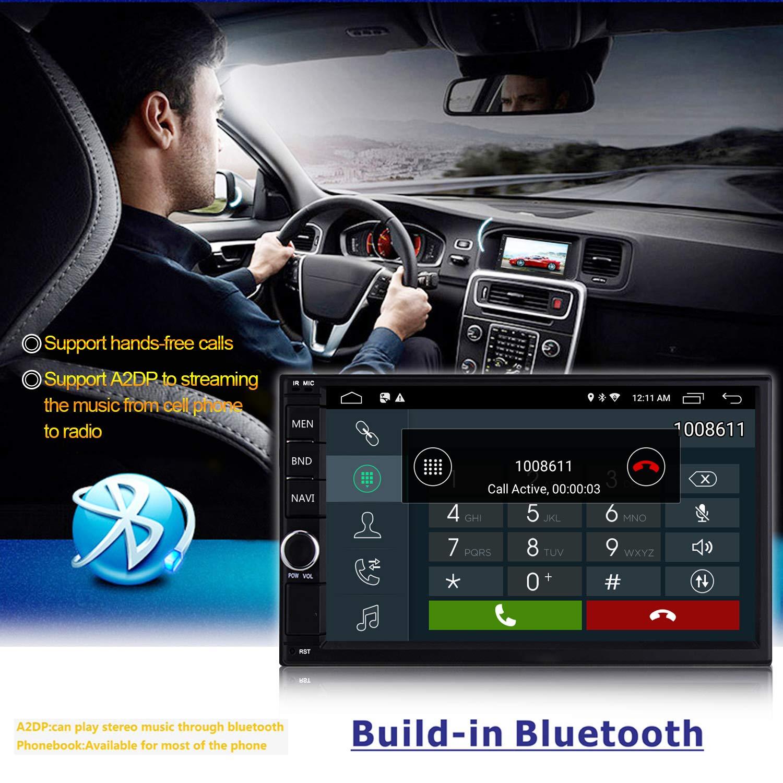 LEXXSON 2DIN Autoradio mit Bluetooth Freisprecheinrichtung GPS Navigation WIFI 7 Zoll Touchscreen Android 6.0 Auto Stereo Unterst/ützt USB FM AM RDS AUX Subwoofer Mirrorlink