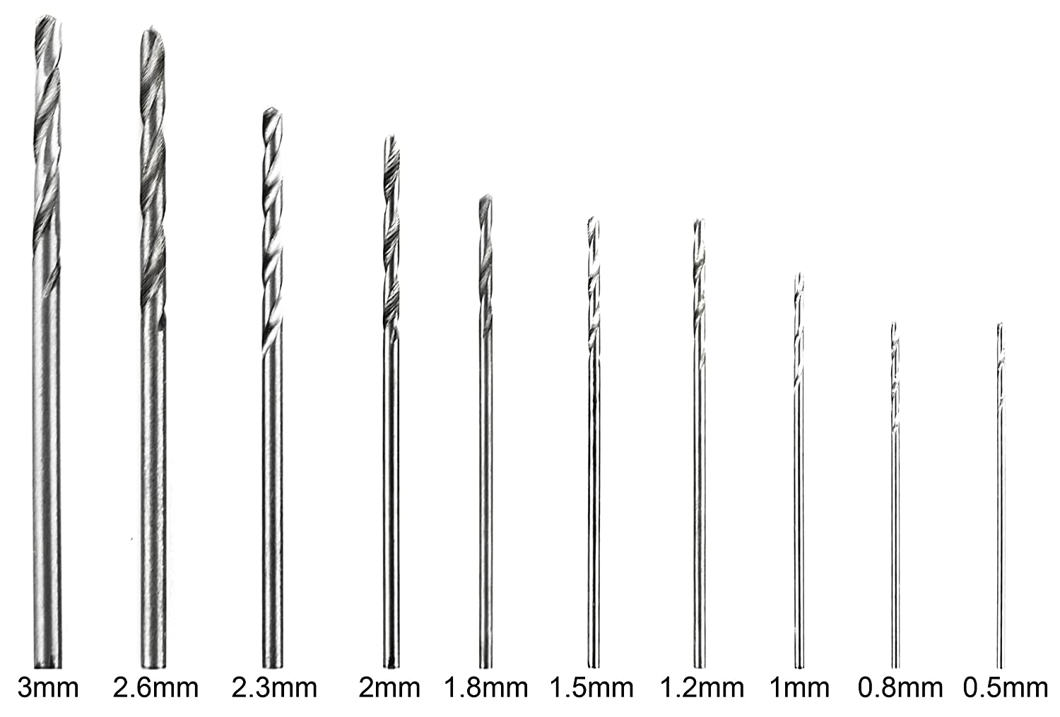 Bastex Precision Pin Vise Hand Drill with Twist Bits Set of 11 Pieces Great for models and Hobby.