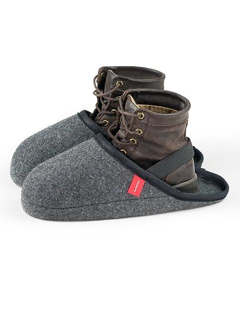 Babuchas pantuflas chanclas zapatillas en fieltro, talla de zapato Medium, calzas con cinta elástica