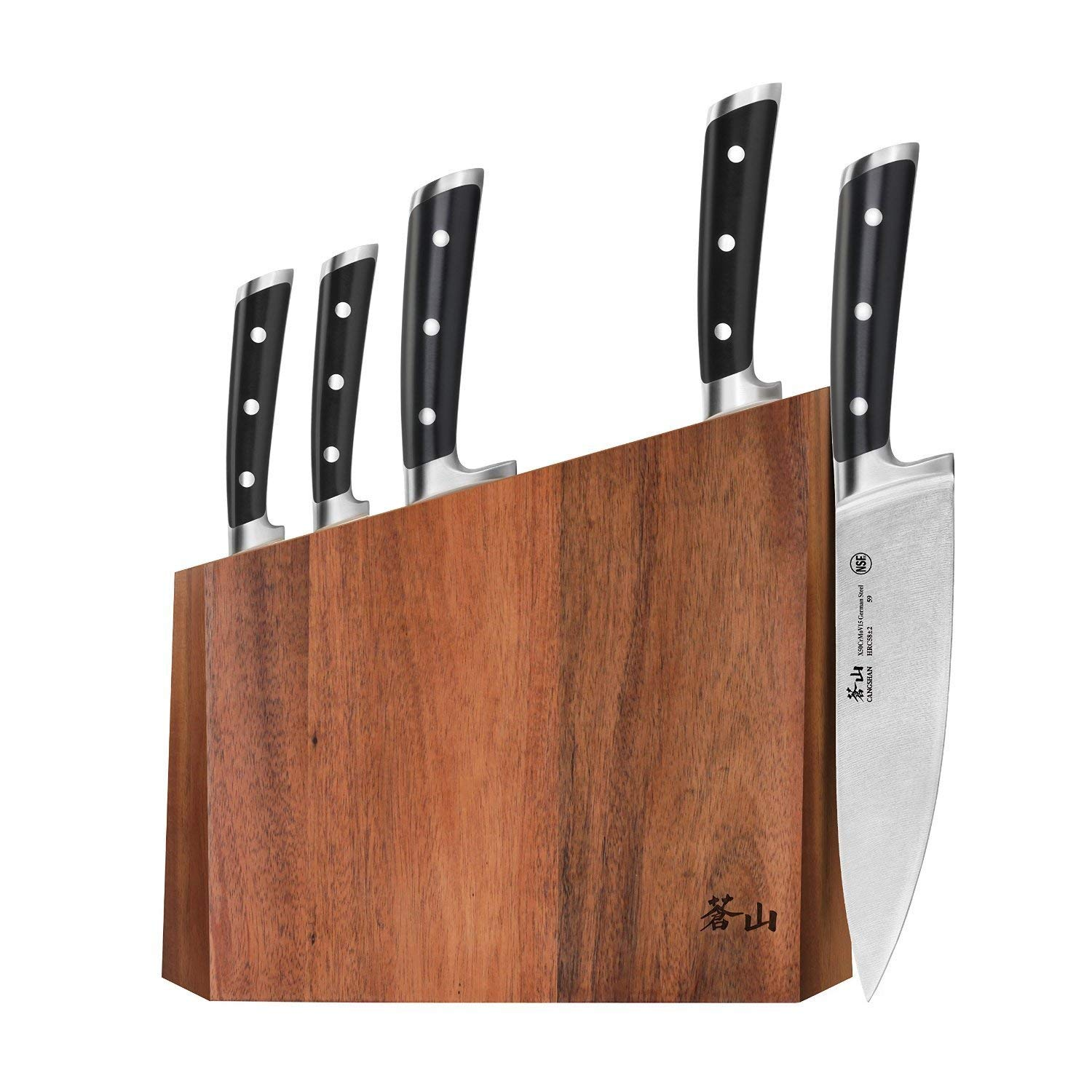 Cangshan S Series 59656 6-Piece German Steel Forged Knife Block Set