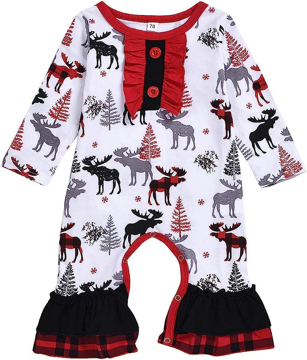 Infant Baby Girl Boy Floral Long Sleeve Romper Bodysuit Jumpsuit Clothes Outfit