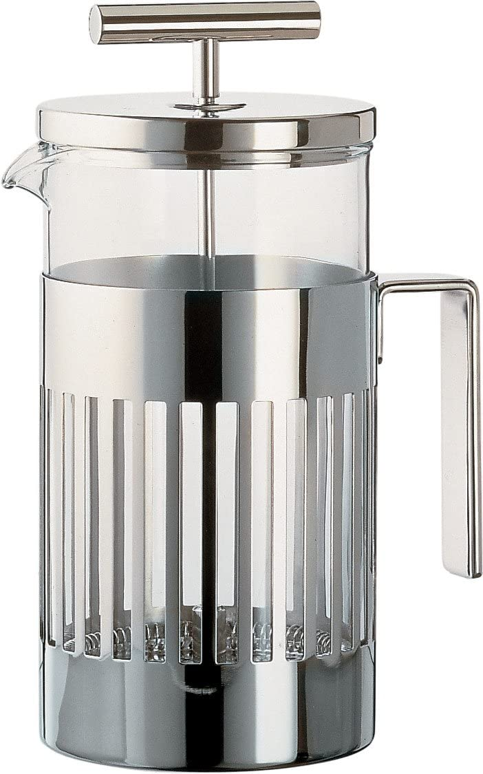 Alessi Press Filter Coffee Maker, Silver