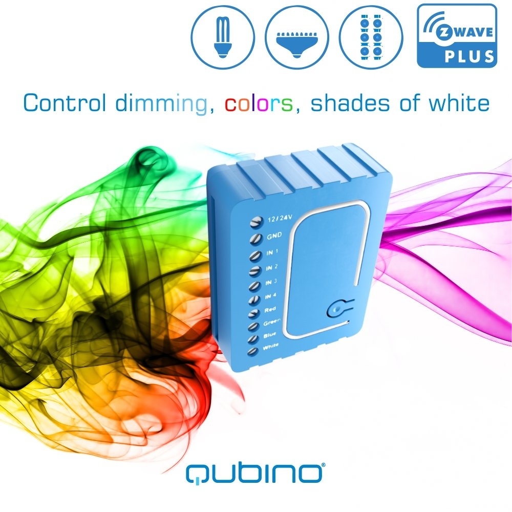 Qubino Z Wave Plus Rgbw Controller Zmnhwd3 For 12 24v Led Strips And Relay Switch Light Bulbs