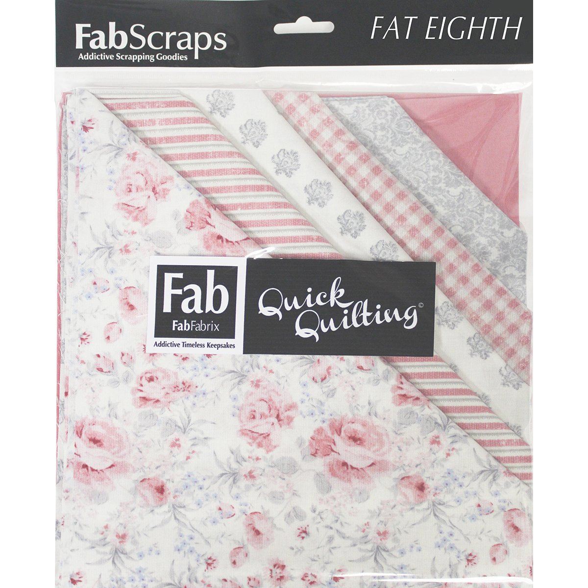 Shabbylicious-9''X21'' Fat Eighths 12Pcs-Pink by FabScraps