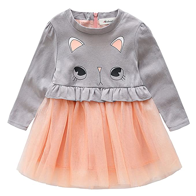 Amazon.com: baywell bebé vestido de niña niños mangas largas ...