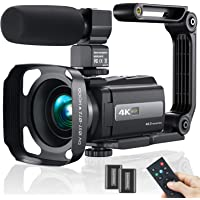 2021 New Upgraded Video Camera Camcorder, 4K WiFi Ultra HD 48MP Vlogging Recorder with IPS Touch Screen, IR Night Vision…