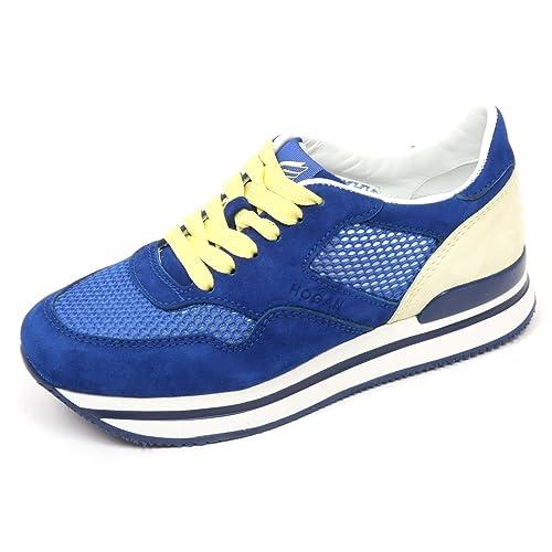 C7898 sneaker donna HOGAN H222 scarpa bluette/crema shoes woman