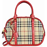 Burberry Women's The Small Orchard in Hoseferry Check, Red, 39 x 12 x 25 cm