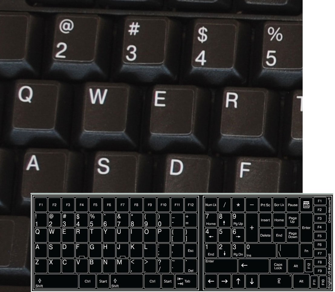 Amazon microsoft surface type 3 cover azerty usfrench hwdr replacement english us keyboard sticker black background biocorpaavc Gallery