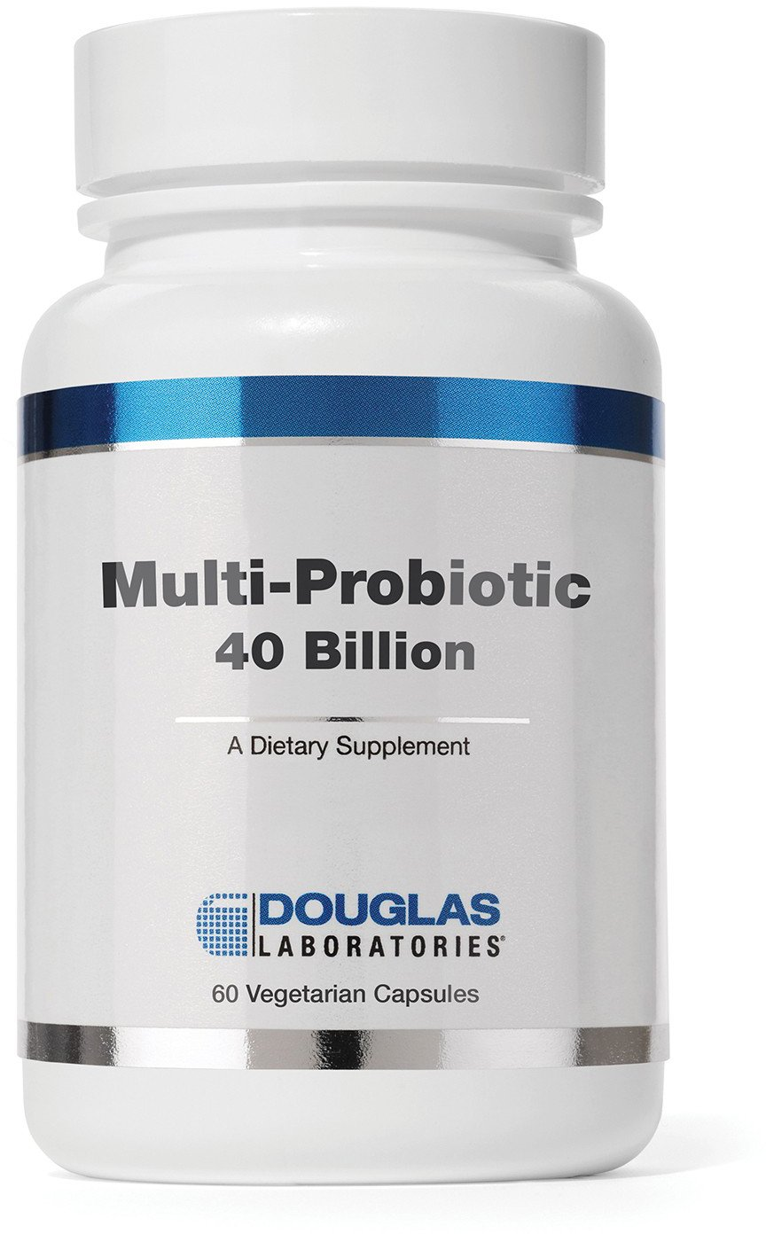 Douglas Laboratories® - Multi-Probiotic 40 Billion - Provides Probiotics and Prebiotics to Support Gut Microflora and Immunity - 60 Capsules
