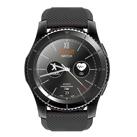 Kivors Reloj Inteligente Classic Ronda de pantalla táctil Sports Fitness Tracker Monitoreo de Frecuencia Cardiaca Monitor