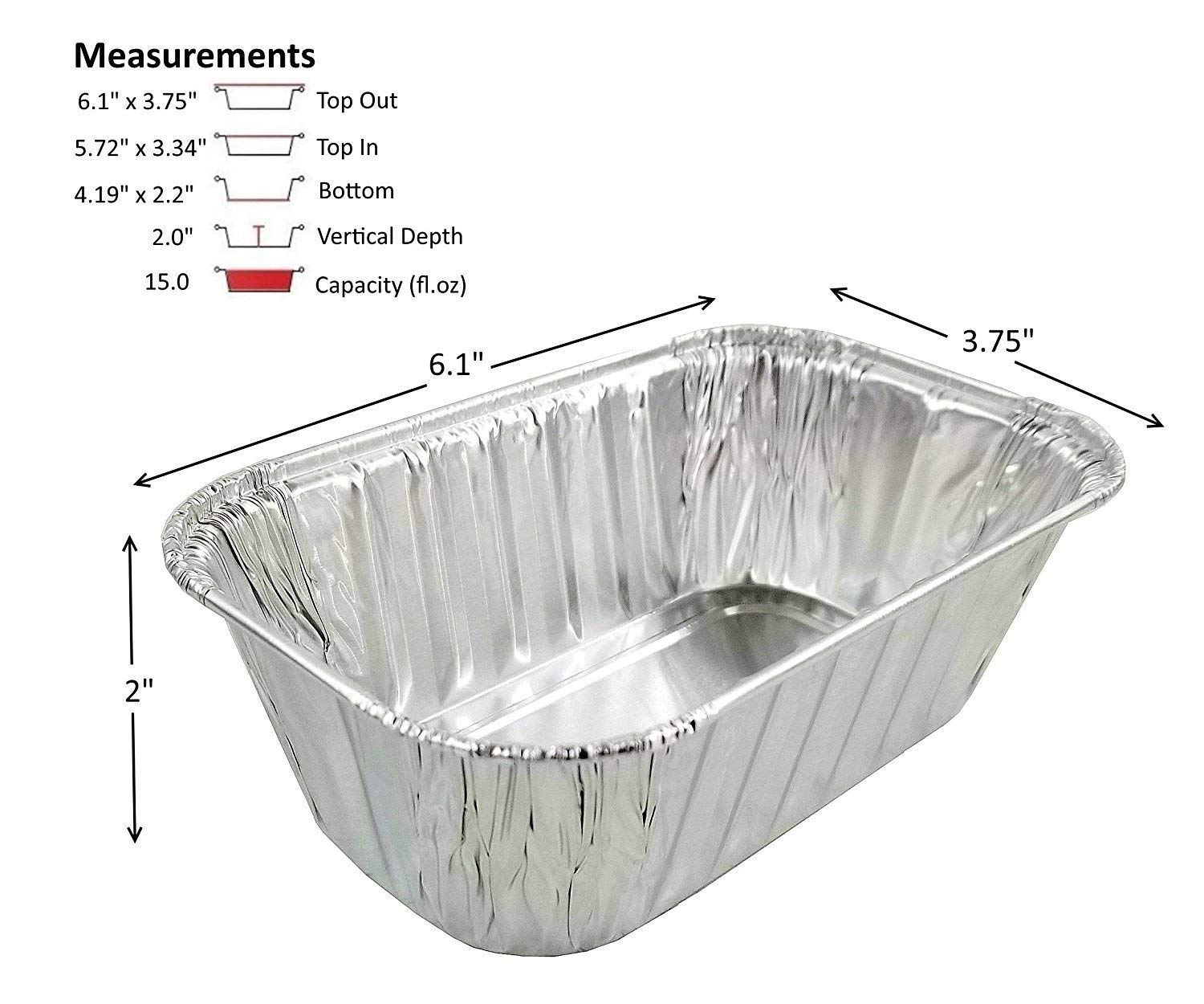 Pactogo Disposable 1 lb. Aluminum Foil Mini Loaf Pans with Clear Low Dome Lids (Pack of 400 Sets) by PACTOGO (Image #2)