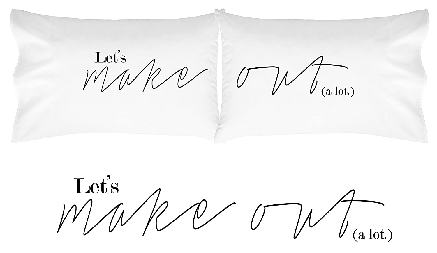 outlet side or him soft pillowcase her beddingoutlet gift black and bedding cover cases hers item his couple for case white pillow bed