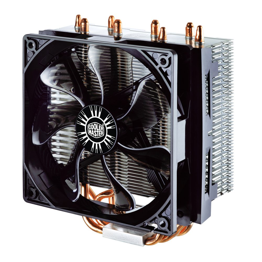 Intel//AMD with AM4 Support Cooler Master Hyper RR-T4-18PK-R1 CPU Cooler with 4 Direct Contact Heatpipes