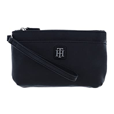 3b0fa9f389b Tommy Hilfiger Womens Two Pocket Wristlet in Black: Handbags: Amazon.com