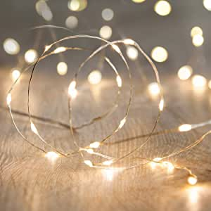 Amazon Com String Lights Waterproof Led String Lights 10ft 30 Leds Fairy String Lights Starry Battery Operated String Lights For Indoor Outdoor Decoration Wedding Home Parties Christmas Holiday Warm White Garden Outdoor