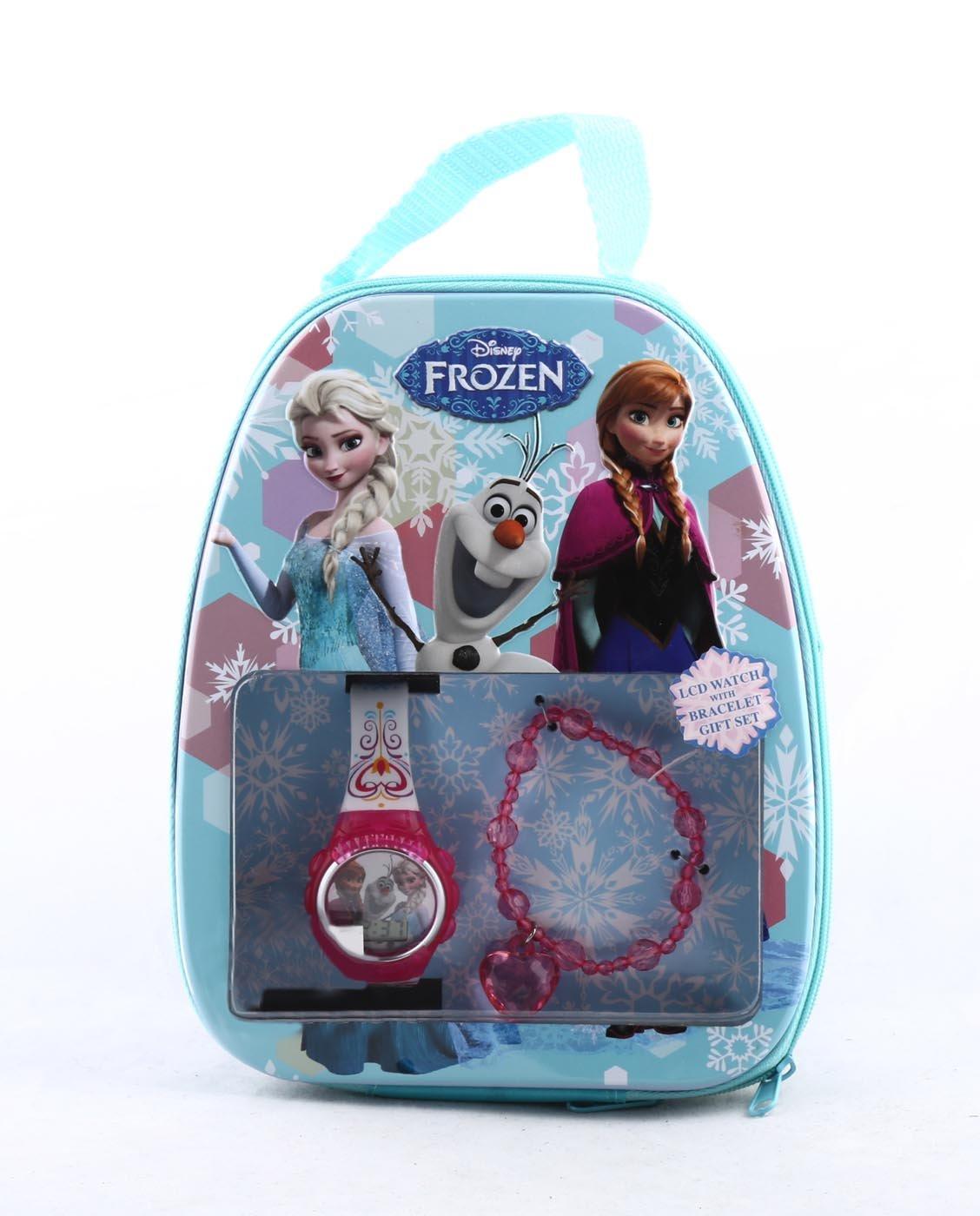 Disney Frozen LCD Watch with Bracelet Gift Set
