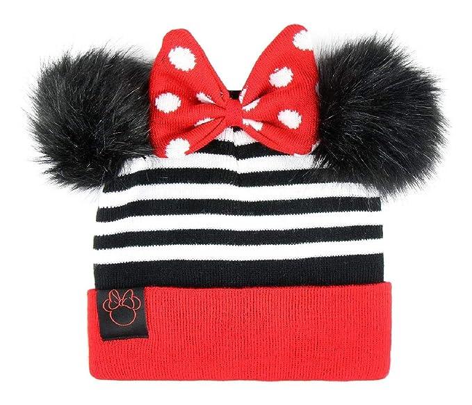 Cappello Invernale Bambina Minnie Disney con PON PON Orecchie 3D e Fiocco  Cuffia Inverno 4899180a0b1c