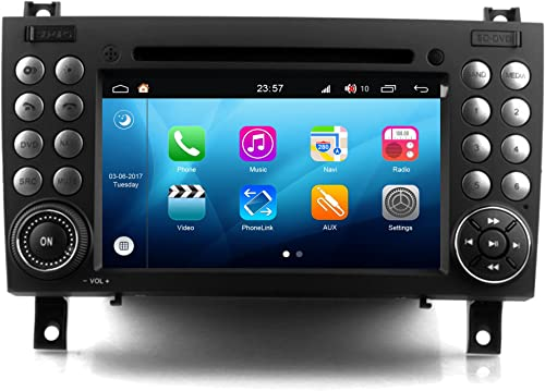 RoverOne Android 8.0 Octa Core in Dash Car DVD GPS Navigation System for Mercedes-Benz SLK R171 W171 SLK350 SLK300 SLK280 2004-2011 with Stereo Radio Bluetooth PhoneLink Touch Screen
